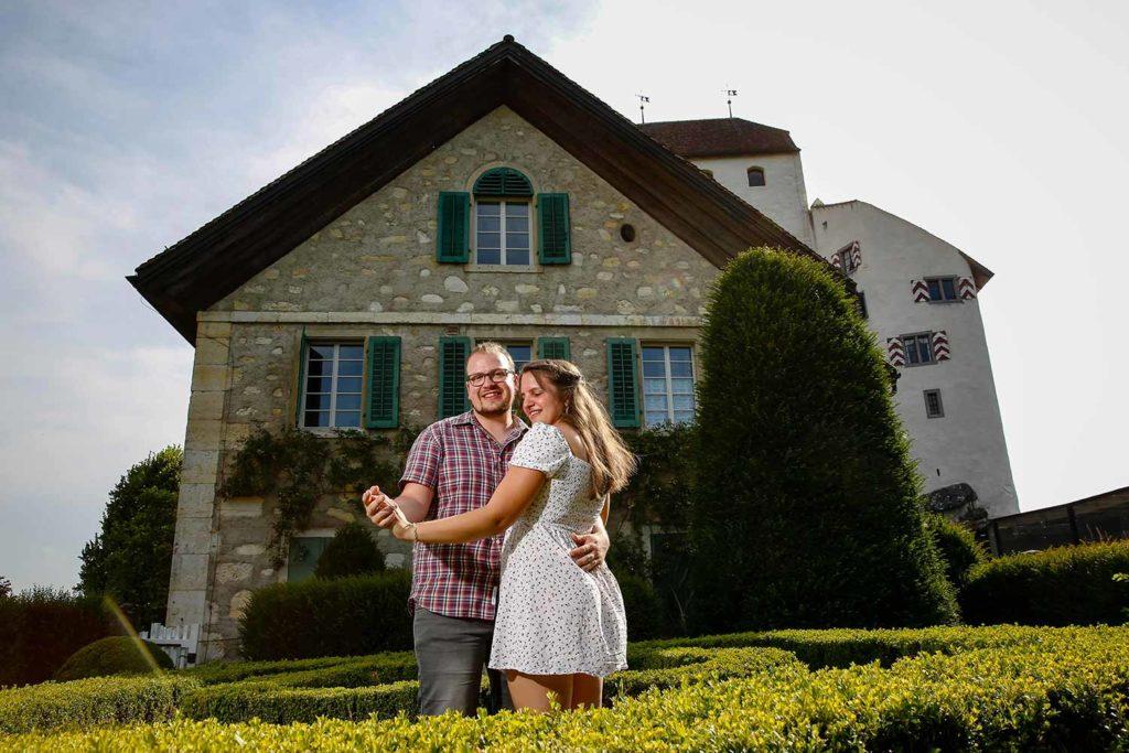 Hochzeitsvorbereitungen, Fotoshooting für Einladungskarte