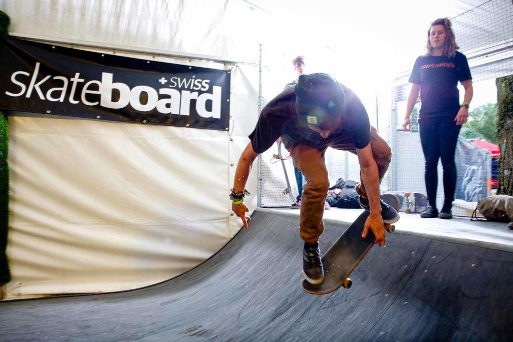 Skateboarder Swiss Skate Board