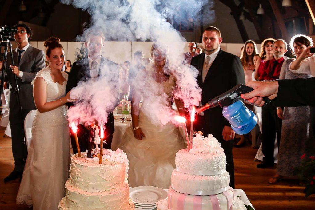 Feurige Hochzeitstorte