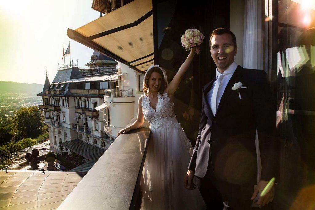 Hochzeitspaar im Dolder Grand