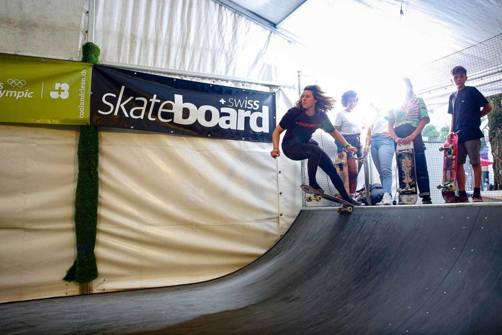 Scateboardering von Skate Board Swiss