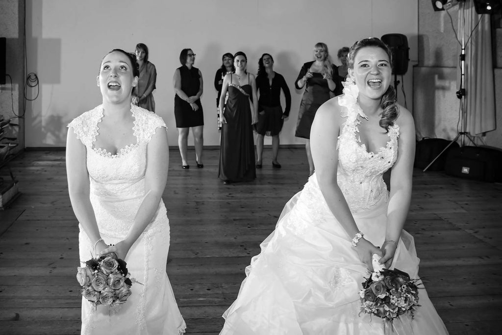 Brautstraussenwerfen