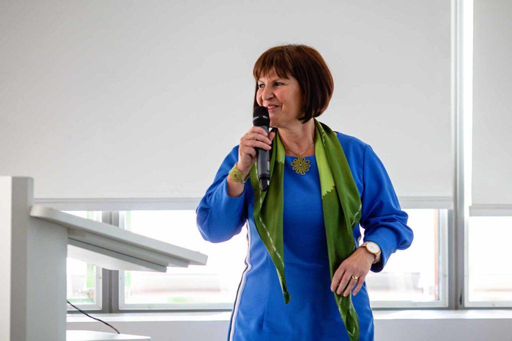 Eva Štravs Podlogar am Meet & Greet der Handelskammer Schweiz Mitteleuropa