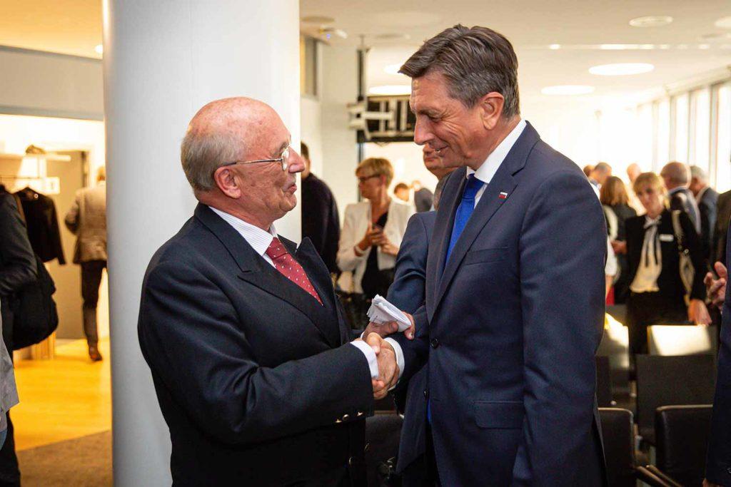 Präsident von Slowenien Borut Pahor und Dr. Richard Friedl