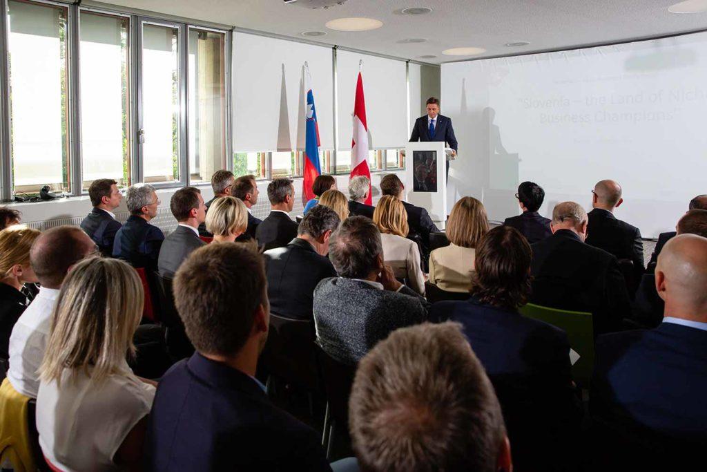 Event mit Präsident von Slowenien Borut Pahor