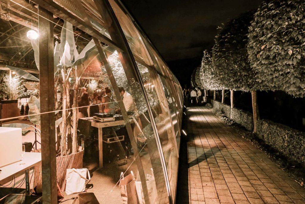 Glashütte bei Nacht