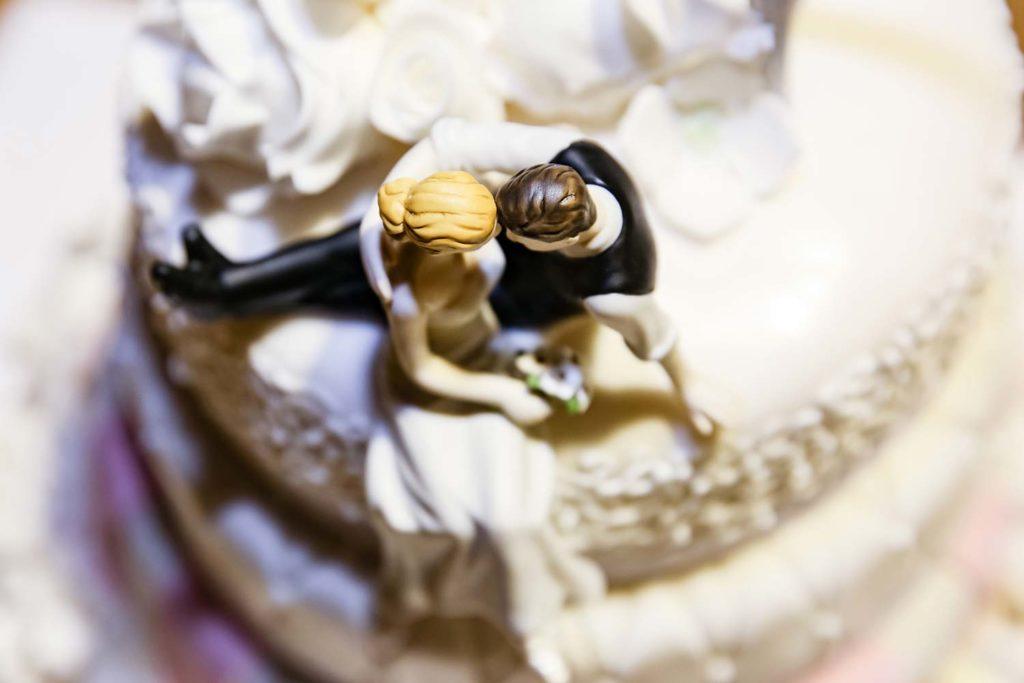 Deko der Hochzeitstorte