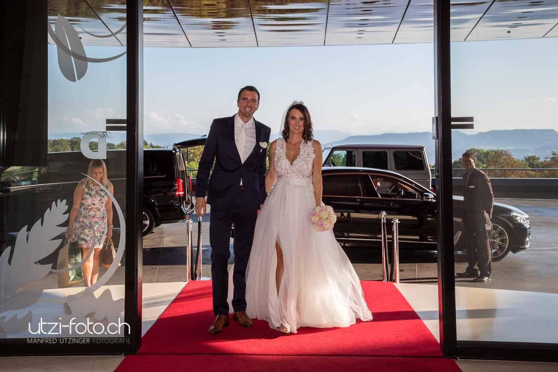 Hochzeit, von der Weinschenke zum Dolder Grande