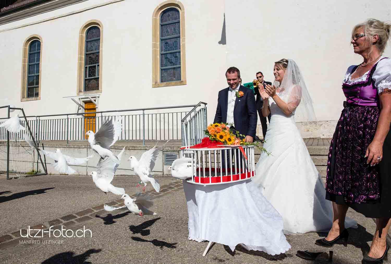 Hochzeit mit grandiosem Finale in Münchenstein BL