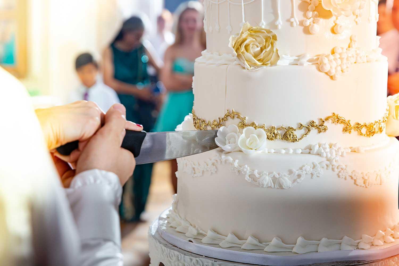 Gewaltige Hochzeitstorte